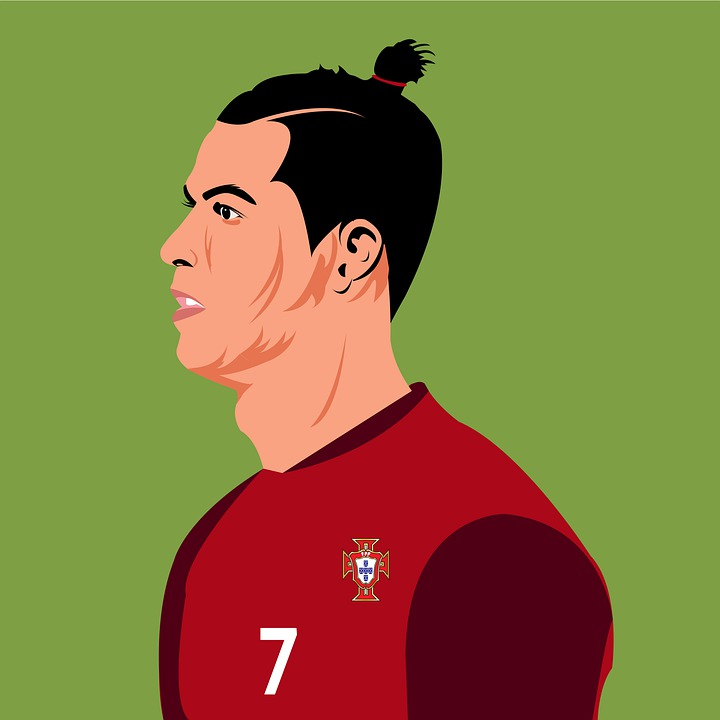 cr7 portugal illustration
